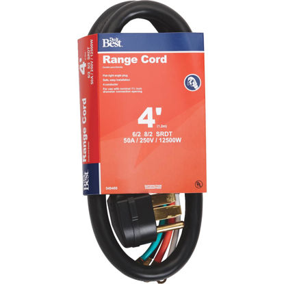 Picture of Do it Best 4 Ft. 6/2 + 8/2 Ga. 4-Conductor Range Cord