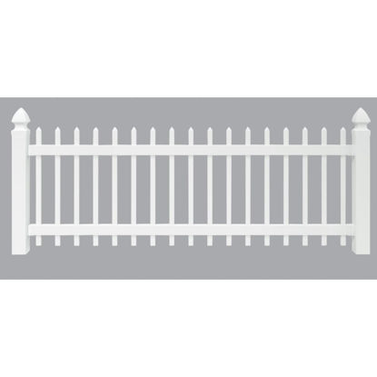 Picture of Outdoor Essentials 3 Ft. H. x 8 Ft. L. Spaced White Vinyl Picket Fence