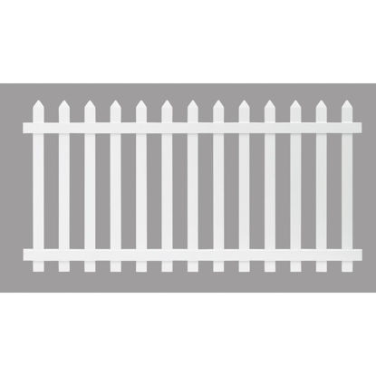 Picture of Outdoor Essentials 4 Ft. H. x 8 Ft. L. Spaced White Vinyl Picket Fence