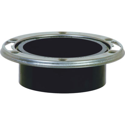 Picture of ABS 4 In. Hub Closet Flange with Stainless Steel Ring
