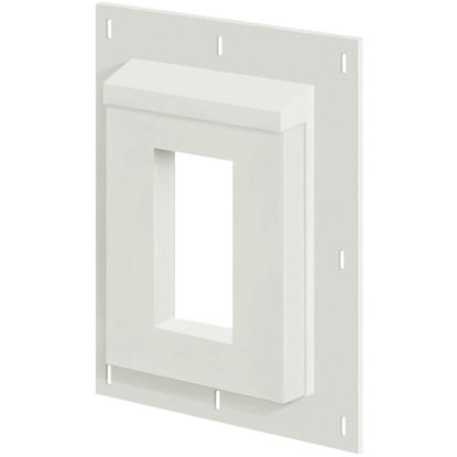 "Picture of Builders Edge Sturdimount 6"" x 8-1/2"" Trim White/Paintable Fiber Cement Mounting Blocks"