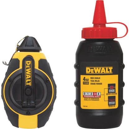 Picture of DeWalt 100 Ft. Chalk Line Reel and Chalk, Red