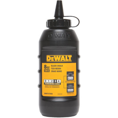 Picture of DeWalt 8 Oz. Black Chalk Line Chalk