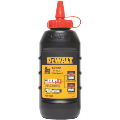 Picture of DeWalt 8 Oz. Red Permanent Chalk Line Chalk