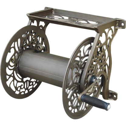 Picture of Liberty Garden 125 Ft. x 5/8 In. Bronze Aluminum Decorative Wall Mount Hose Reel