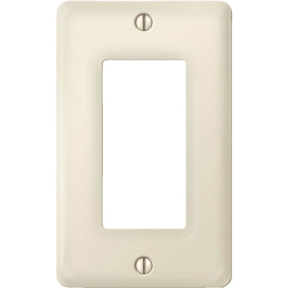 Picture of Amerelle 1-Gang Ceramic Rocker Decorator Wall Plate, Biscuit