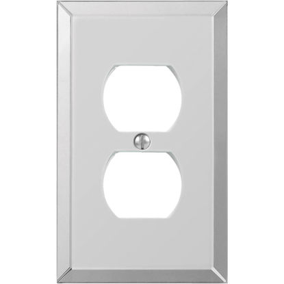 Picture of Amerelle 1-Gang Acrylic Outlet Wall Plate, Beveled Mirror