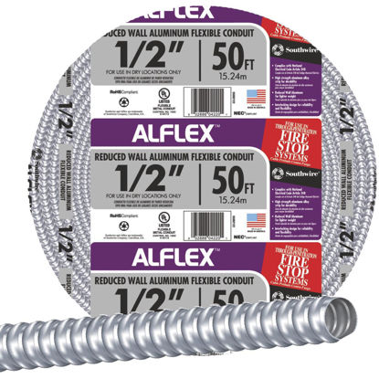Picture of Southwire 1/2 In. x 100 Ft. Aluminum Flexible Flexible Metal Conduit