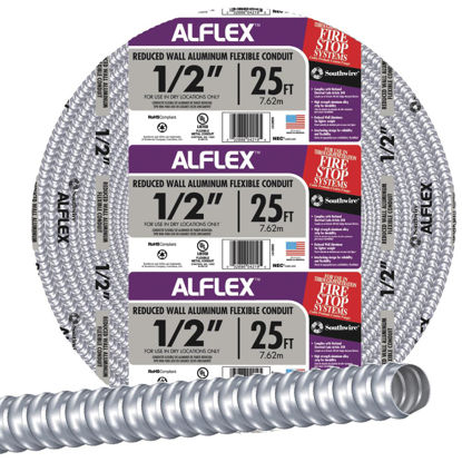 Picture of Southwire 1/2 In. x 25 Ft. Aluminum Flexible Flexible Metal Conduit