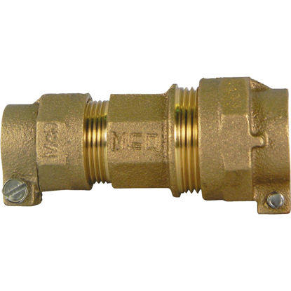 Picture of A Y McDonald 3/4 In. CTS x 1 In. CTS Brass Low Lead Connector