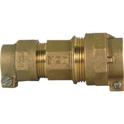 Picture of A Y McDonald 1 In. CTS x 1 In. CTS Brass Low Lead Connector