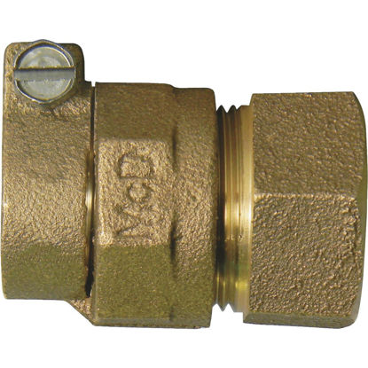 Picture of A Y McDonald 1 In. CTS x 1 In. FIPT Brass Low Lead Connector