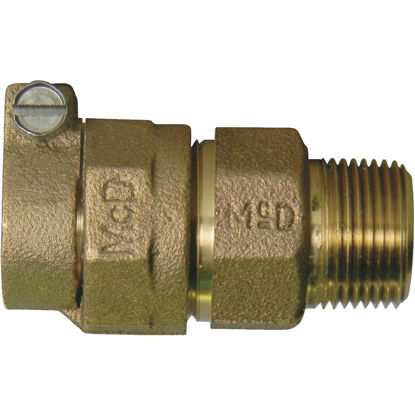 Picture of A Y McDonald 1 In. CTS x 1 In. MIPT Brass Low Lead Connector