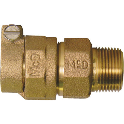Picture of A Y McDonald 1 In. CTS x 3/4 In. MIPT Brass Low Lead Connector