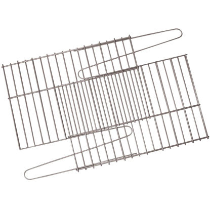 Picture of GrillPro 17 In. to 25 In. W. x 11 In. to 14 In. D. Porcelain-Coated Steel Universal Adjustable Rock Grill Grate