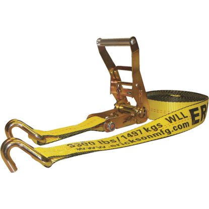 Picture of Erickson 2 In. x 27 Ft. 10,000 Lb. Ratchet Strap with Double J Hook