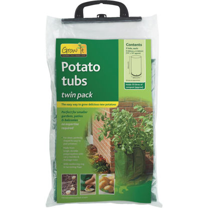 Picture of Gardman 20 In. H. x 16 In. D. Potato Grow Tub Garden System (2-Pack)