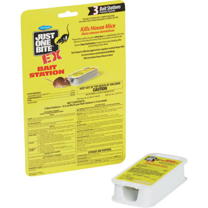 Picture of Just One Bite Disposable Mouse Bait Station (3-Pack)