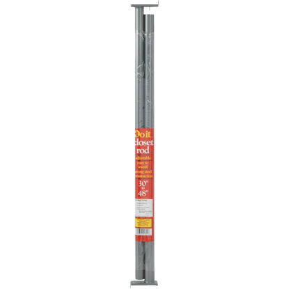 Picture of Do it 30 In. to 48 In. Adjustable Closet Rod, Lustra