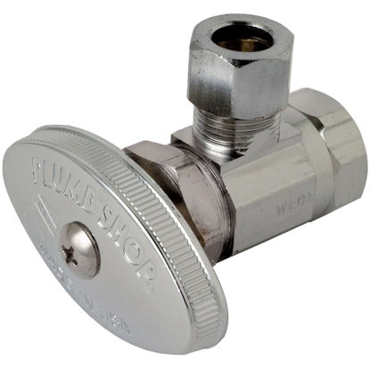 Picture of BrassCraft 3/8 In. FIP Inlet x 3/8 In. OD Tube Outle Multi-Turn Angle Valve