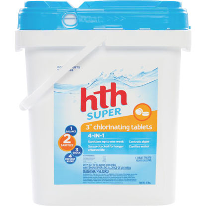 Picture of HTH 3 In. 15 Lb. Super Chlorine Tablet