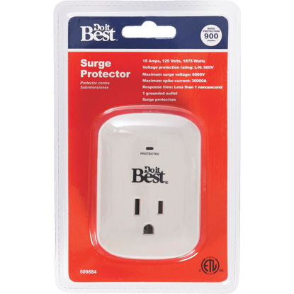 Picture of Do it Best 1-Outlet 15A Gray Surge Tap