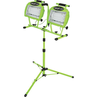 Picture of Designers Edge Power Light 9600 Lm. Fluorescent Twin Head Tripod Stand-Up Work Light