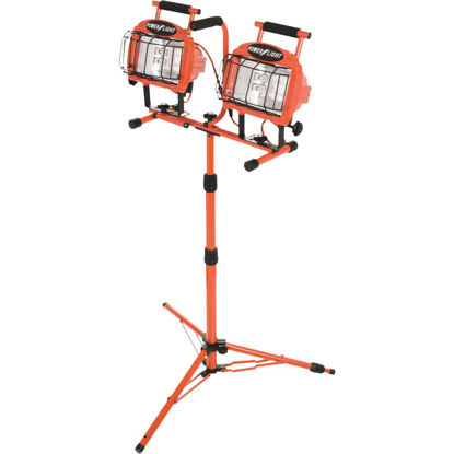 Picture of Designers Edge Power Light 19,200 Lm. Halogen Twin Head Tripod Stand-Up Work Light