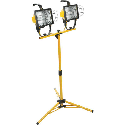 Picture of Designers Edge Power Light 16,000 Lm. Halogen Twin Head Tripod Stand-Up Work Light