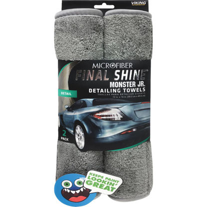 Picture of Viking Final Shine Monster Jr. 12 In. x 16 In. Gray Detailing Towel (2-Pack)