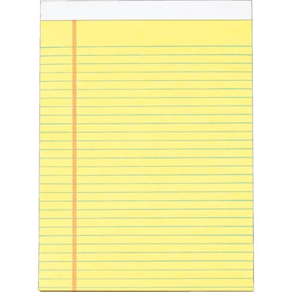 Picture of Staples 8-1/2 In. W. x 11 In. H. 50-Sheet Yellow Top Bound Legal Pad (12-Pack)