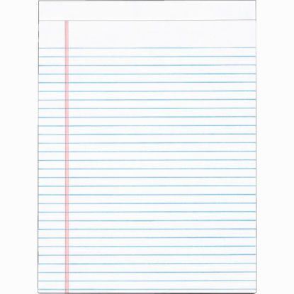 Picture of Staples 8-1/2 In. W. x 11 In. H. 50-Sheet White Top Bound Legal Pad (12-Pack)