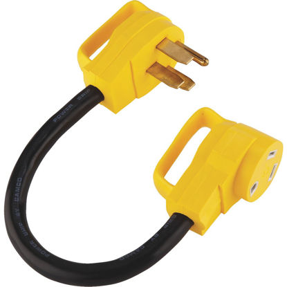 Picture of Camco PowerGrip 50A/30A Dogbone RV Power Cord Adapter