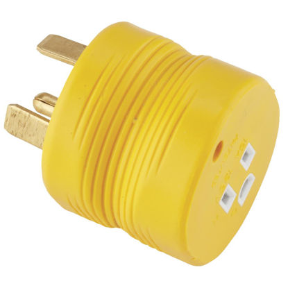 Picture of Camco Power Grip 30A Male to 15A Female RV Plug Adapter