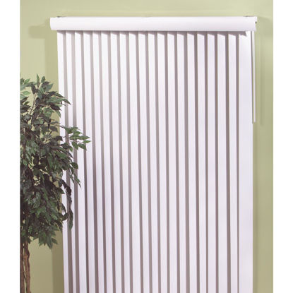 Picture of Home Impressions 66 In. x 84 In. Alabaster Vinyl Vertical Blinds