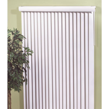 Picture of Home Impressions 66 In. x 84 In. White Vinyl Vertical Blinds