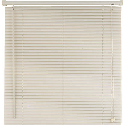 Picture of Home Impressions 17 In. x 64 In. Alabaster Vinyl Light Filtering Corded Mini-Blinds