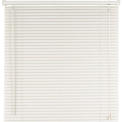 Picture of Home Impressions 60 In. x 64 In. White Vinyl Light Filtering Corded Mini-Blinds