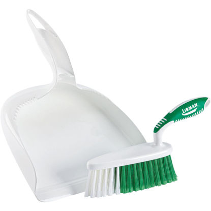 Picture of Libman White Plastic Dust Pan & Brush Set