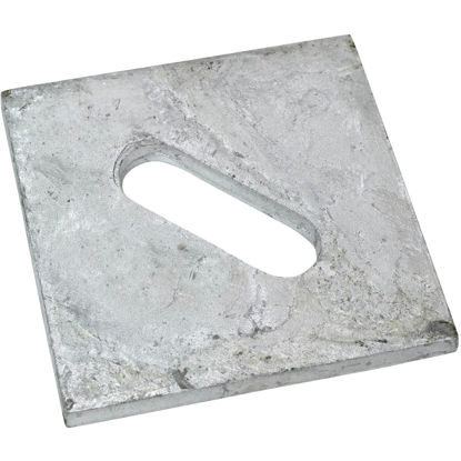 Picture of Simpson Strong-Tie 1/2 in. x 3 in. Steel Hot Dipped Galvanized Slotted Bearing Plate