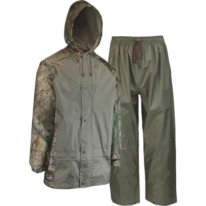 Picture of West Chester 2XL 2-Piece RealTree Camo Polyester Rain Suit
