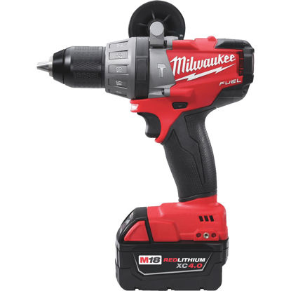 Picture of Milwaukee M18 FUEL 18-Volt XC Lithium-Ion Brushless 1/2 In. Cordless Hammer Drill Kit