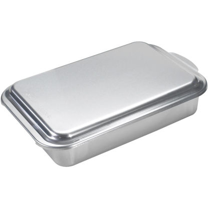 Picture of NordicWare 9 In. x 13 In. Aluminum Cake Pan with Lid