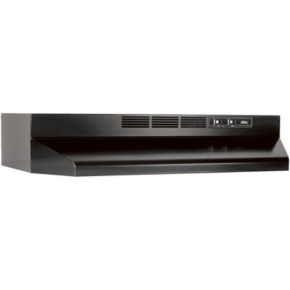 Picture of Broan-Nutone 41000 Series 30 In. Non-Ducted Black Range Hood