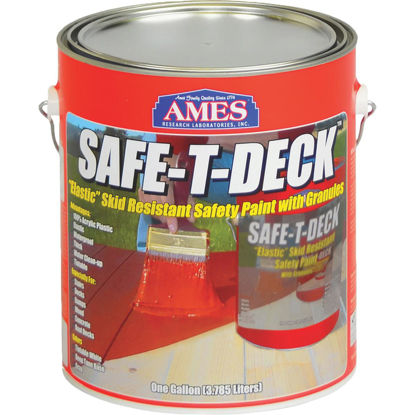 Picture of Ames Safe-T-Deck Gray Elastomeric Waterproofing Sealer Deck Paint, 1 Gal.