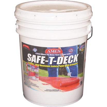 Picture of Ames Safe-T-Deck Gray Elastomeric Waterproofing Sealer, 5 Gal. Deck Paint