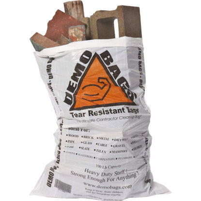 Picture of Demo 42 Gal. Contractor White Trash Bag (5-Count)