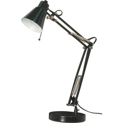 Picture of Satco Black Incandescent Drafting Desk Lamp
