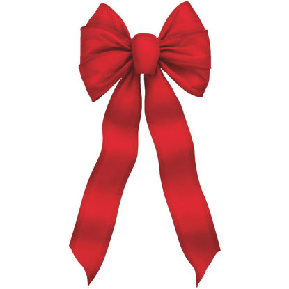 Picture of Holiday Trims 7-Loop 10 In. W. x 22 In. L. Red Velvet Wire Christmas Bow