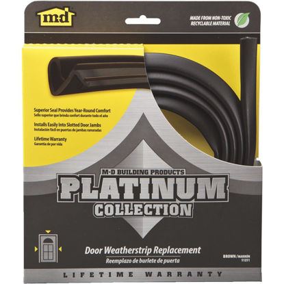 "Picture of M-D 84"" Brown Door Jambs Weatherstrip Replacement"